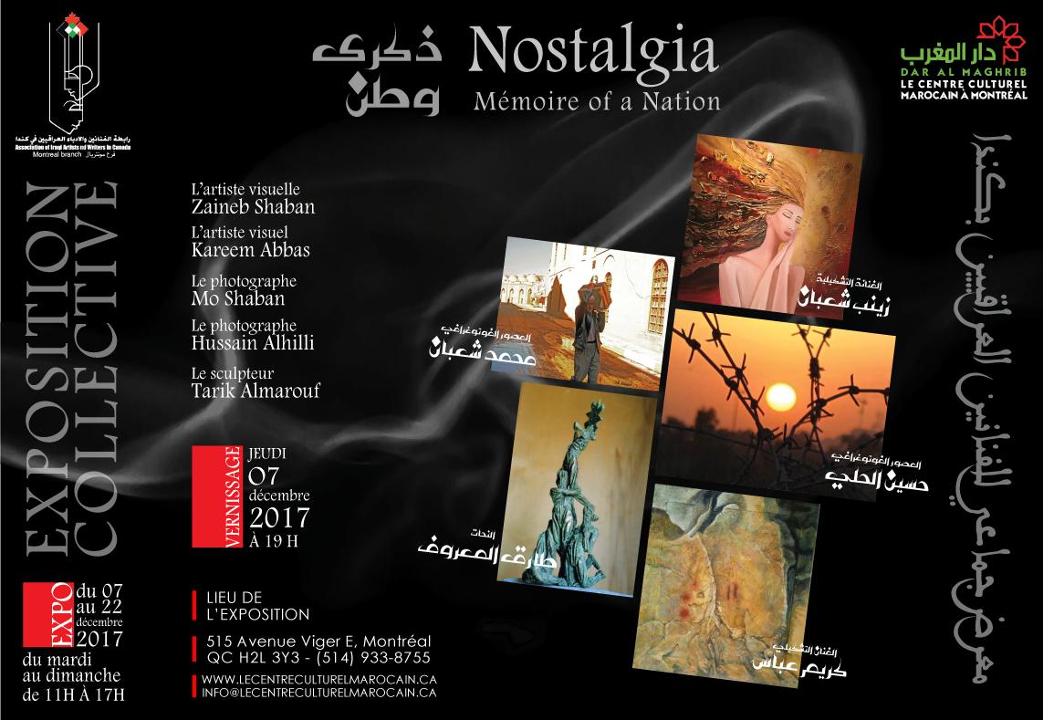 Exposition d'art plastique, de photographie et de sculpture «Nostalgia; mémoire of nation»