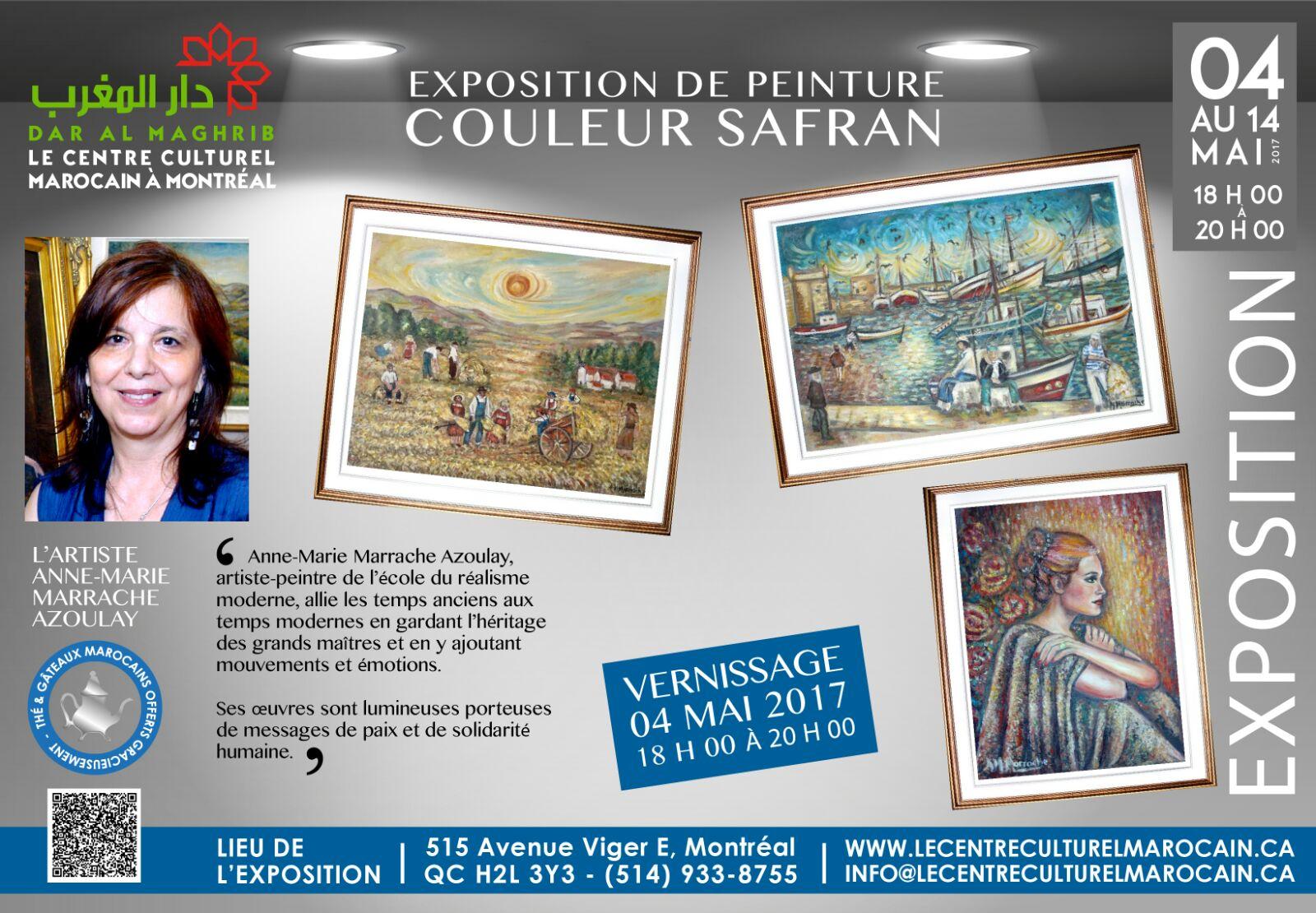 La Maison du Maroc reçoit l'Expo Couleur Safran de Mme Azoulay