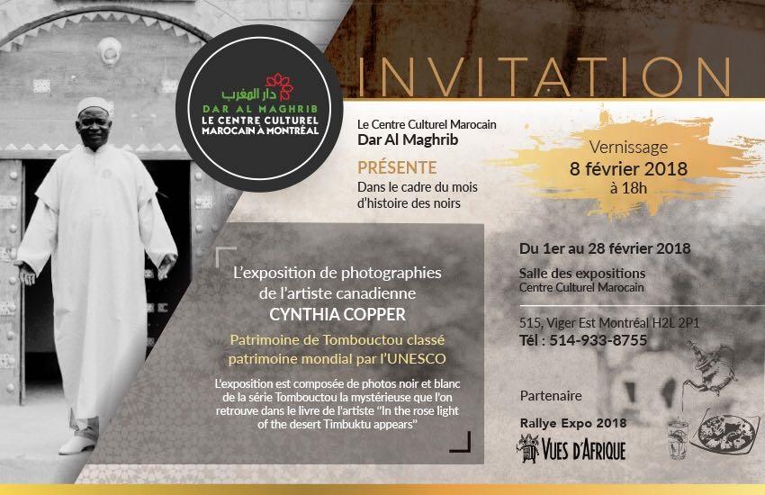 EXPOSITION DE PHOTOGRAPHIE DE L'ARTISTE CYNTHIA COPPER