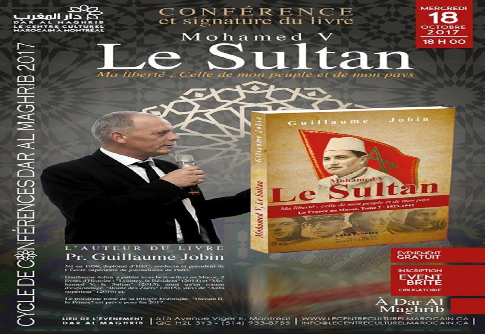 Conférence et signature du livre «Mohamed V le Sultan «