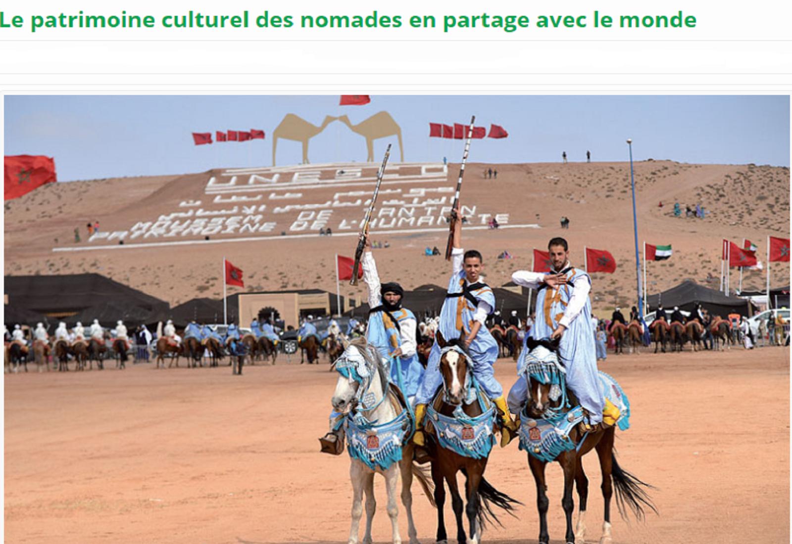 Le patrimoine culturel des nomades en partage avec le monde