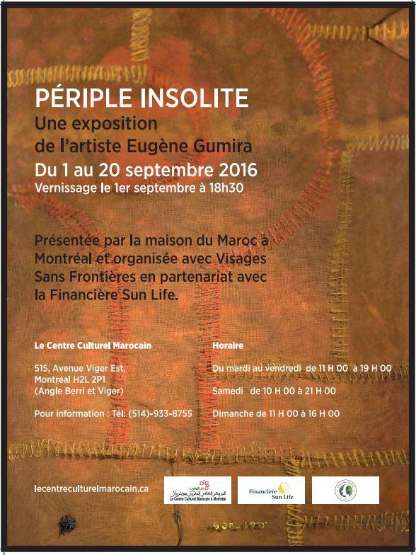 Exposition « Périple Insolite » d'Eugène Gumira du 1er au 20 Septembre