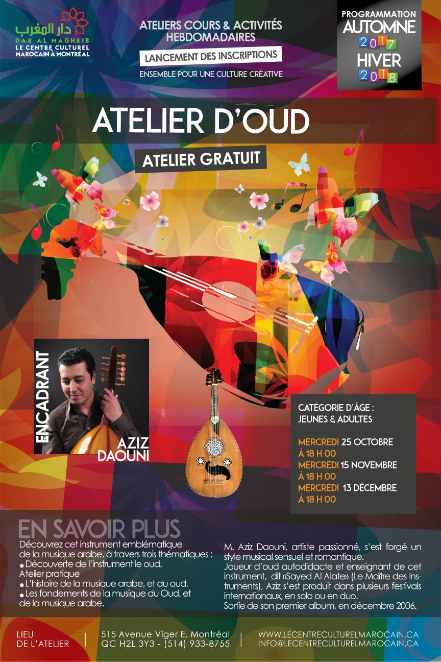 Atelier d'Oud  Automne 2017