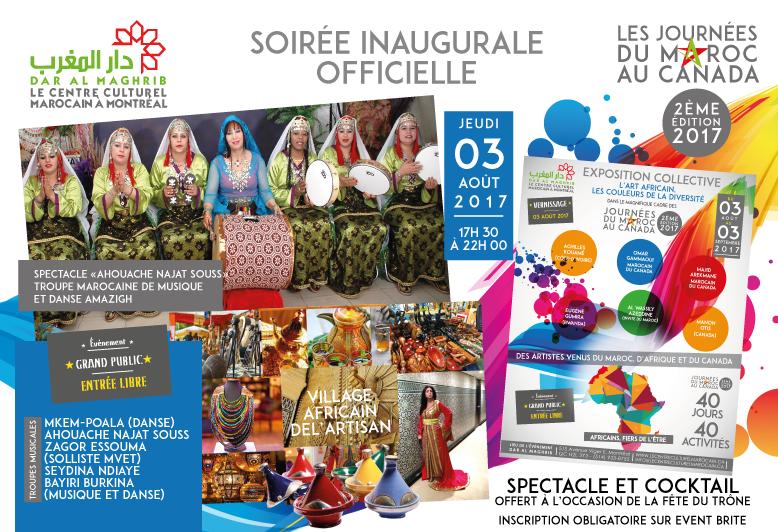 ''Africains, fiers de l'être'' deuxième édition des Journées du Maroc au Canada 2017
