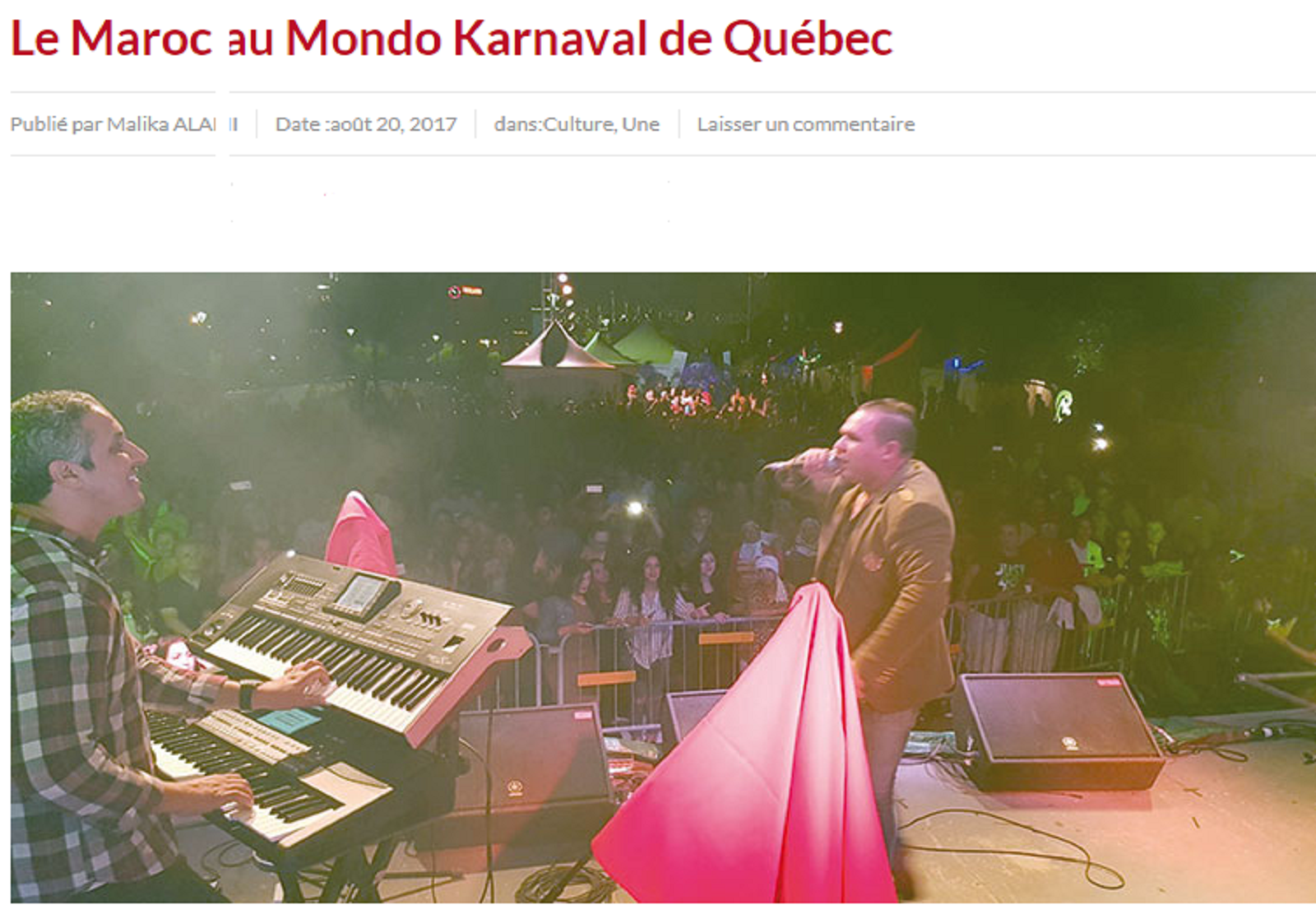Le Maroc au Mondo Karnaval de Québec