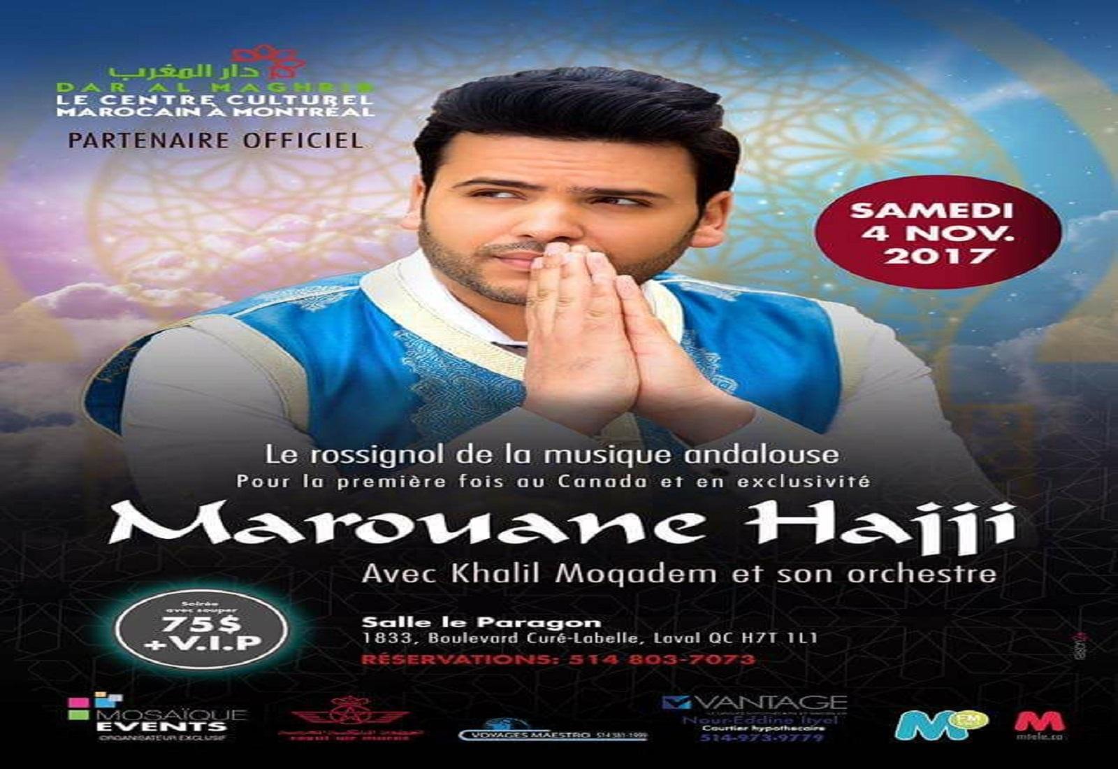 Marouane Hajji pour la peremière fois au Canada