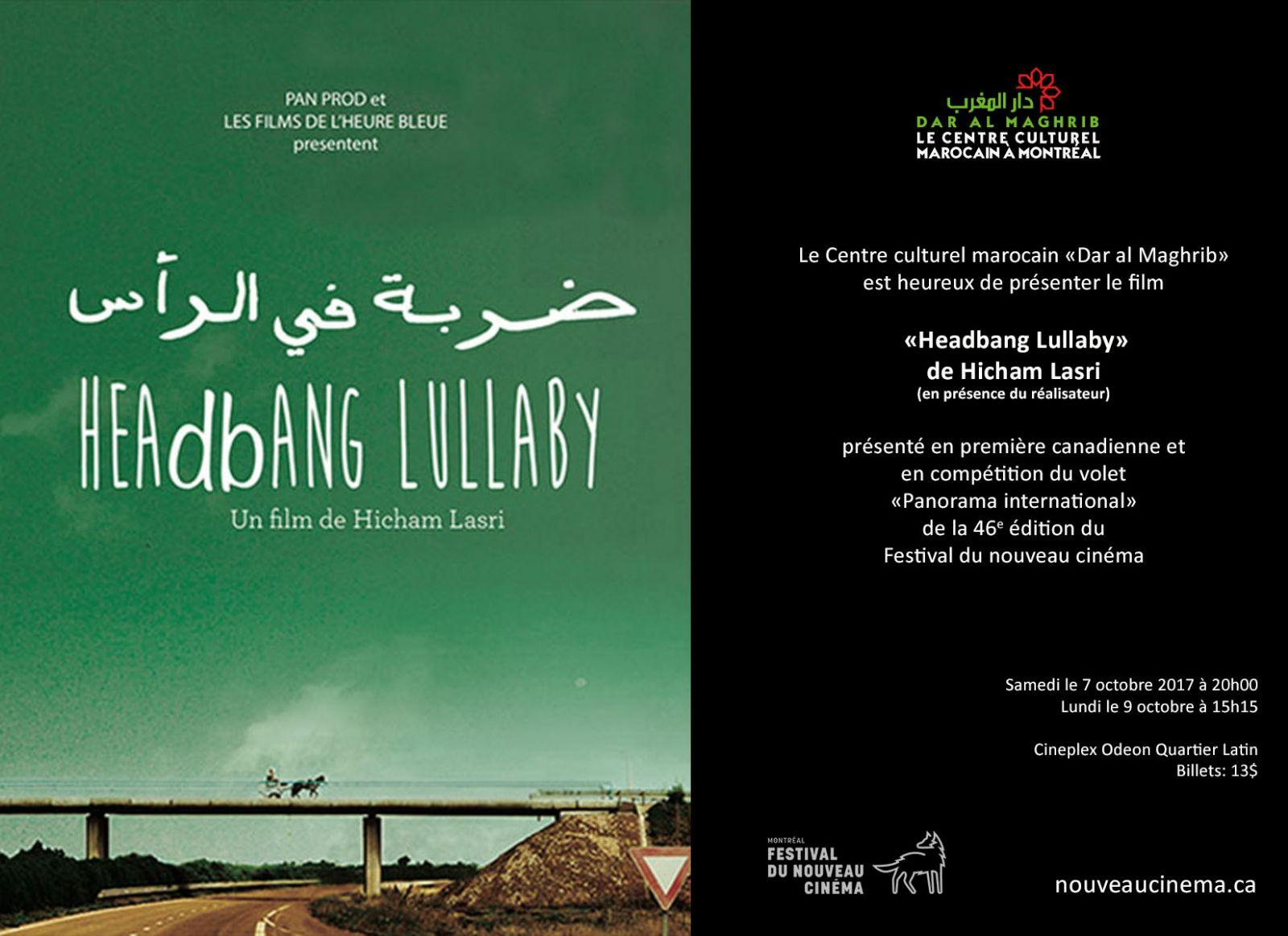 Festival international du nouveau  Cinéma, film «HEAD BANG LULLABY» LE 7 ET 9 OCTOBRE
