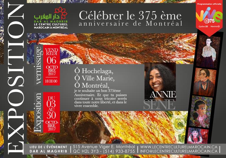 L'exposition d'Annie Sène,  Célébre le «375ème  anniversaire de la ville Montréal «