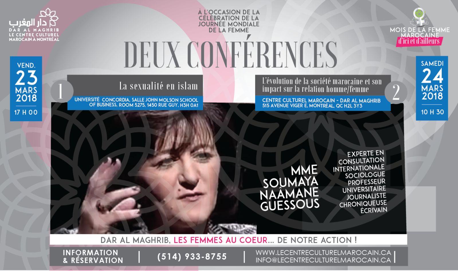 Conférence – Débat par la sociologue Soumaya Naamane Guessous