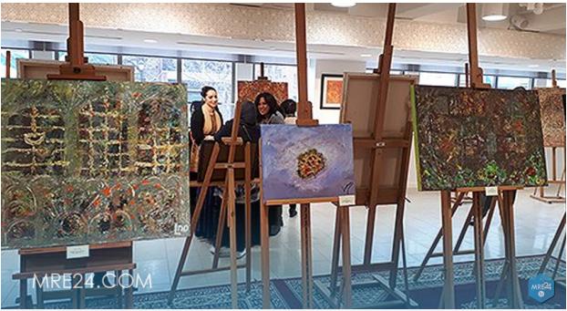 مونتريال افتتاح معرض (فسيفساء) للفنانة التشكيلية العصامية لطيفة مازهر