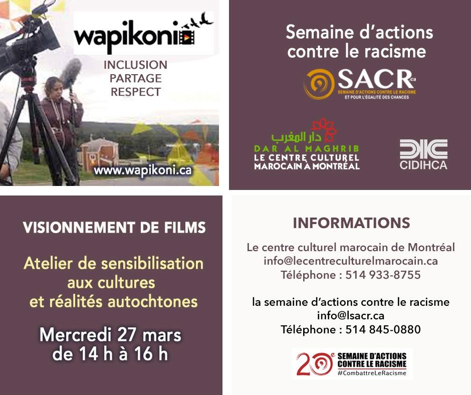 Le Centre Culturel Marocain – fier partenaire et collaborateur de la 20ème édition de la Semaine d'Actions Contre le Racisme: 22 au 31 mars