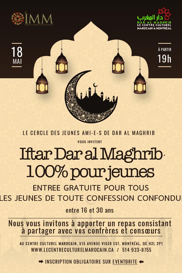 Iftar Dar Al Maghrib 100% pour jeunes